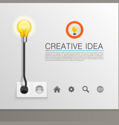 lamp plugged in vector image vector image