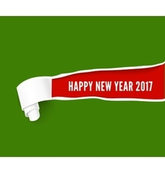 New year hole in green cardboard vector