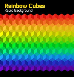 rainbow cubes vector image vector image