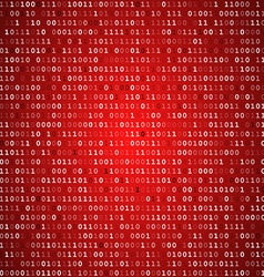 Red screen binary code screen vector image