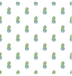Saguaro cactus pattern seamless vector