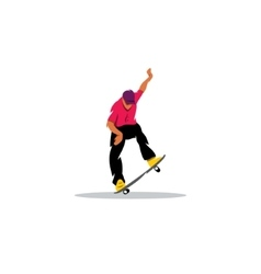 Skateboarder man jumping sign vector image vector image