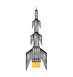 starting rocket sign icon vector image