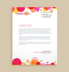 Stylish colorful business letterhead design vector