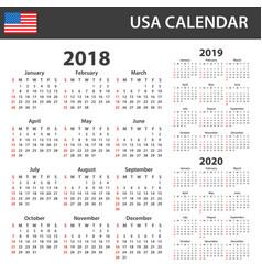 Usa calendar for 2018 2019 and 2020 scheduler vector