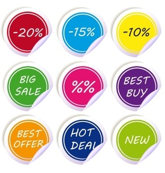 various discount tags labels vector image
