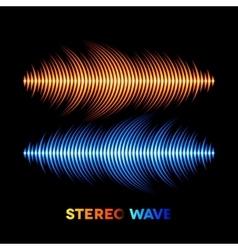 Stereo sound waveform vector image