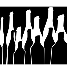 Bottles background green black vector