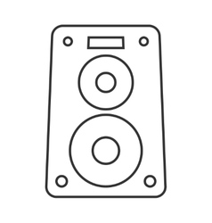 Music speaker thin line icon vector