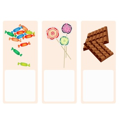 Chocolates lollipops and hard candy background vector