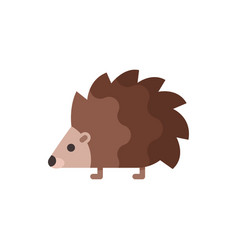 Flat style of hedgehog vector