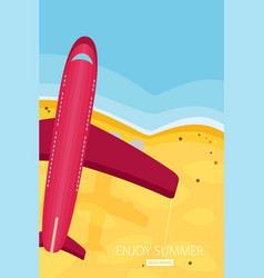 Travel in a flat styleworld travel bannerair vector