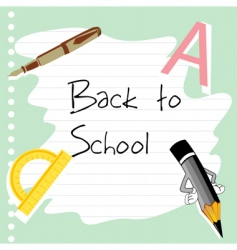 school stationery vector image