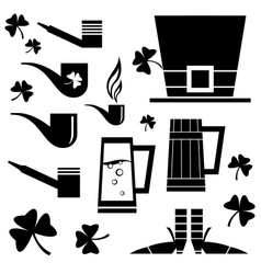 Set of irish holiday vector