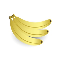 Three sweet bananas fruit yellow icon eps10 vector