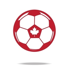 Red football icon with maple vector