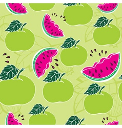 apple melon pattern vector image