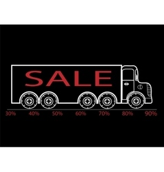 Black friday truck sale discounts interest vector