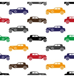 Old simple various color car seamless pattern vector