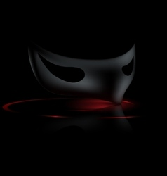 Dark half mask vector