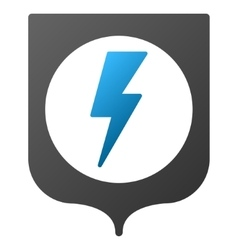 Electric protection gradient icon vector