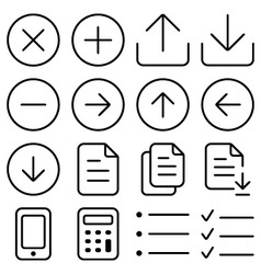 Outline ui pack1 vector