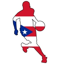 basketball colors of Puerto Rico vector image