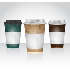 Paper cup for take away coffee or tea vector