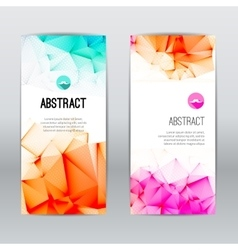 Set of light polygonal and triangular geometric vector