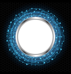 Abstract technology digital circle vector