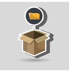 box folder files organize vector image