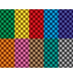 Checkered seamless patterns vector image vector image
