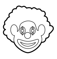 Clown icon image vector