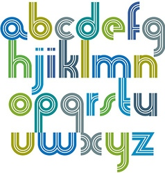 Colorful lowercase letters with rounded corners vector