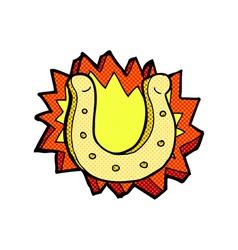 comic cartoon horseshoe symbol vector image