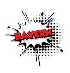 Comic text bayern sound effects pop art vector