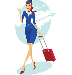 Flight attendant vector