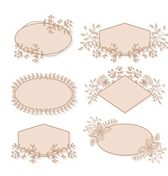 Floral Frame Collection vector image