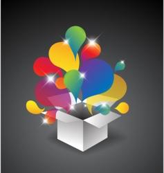 gift box of balloons vector image