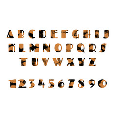 grunge alphabet dirty painted english letters set vector image vector image