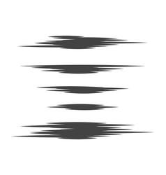 hand drawn brush lines vector image