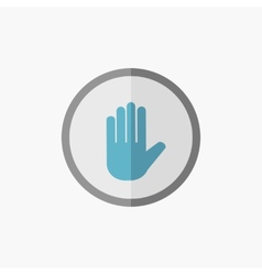 Hand flat icon vector