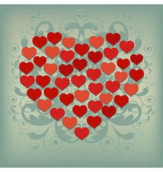 Heart Background 2 vector image