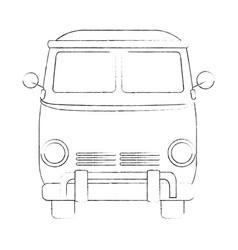 Hippie bus van vector