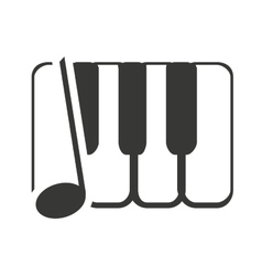 Keys piano with sound icon vector