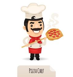 Male pizza chef vector