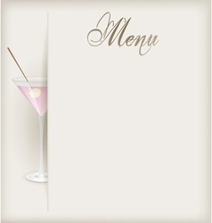 menu vertical martini vector image