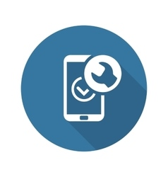 Mobile repair icon flat design vector