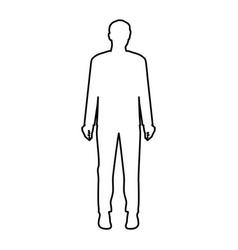 monochrome contour of businessman in white vector image