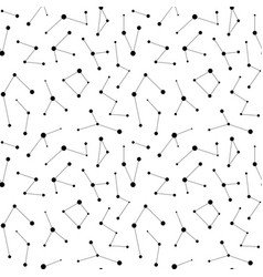 Monochrome seamless pattern constellation vector